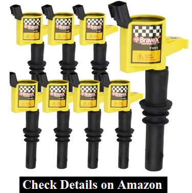 Bravex 8 Pack Straight Boot Ignition Coils