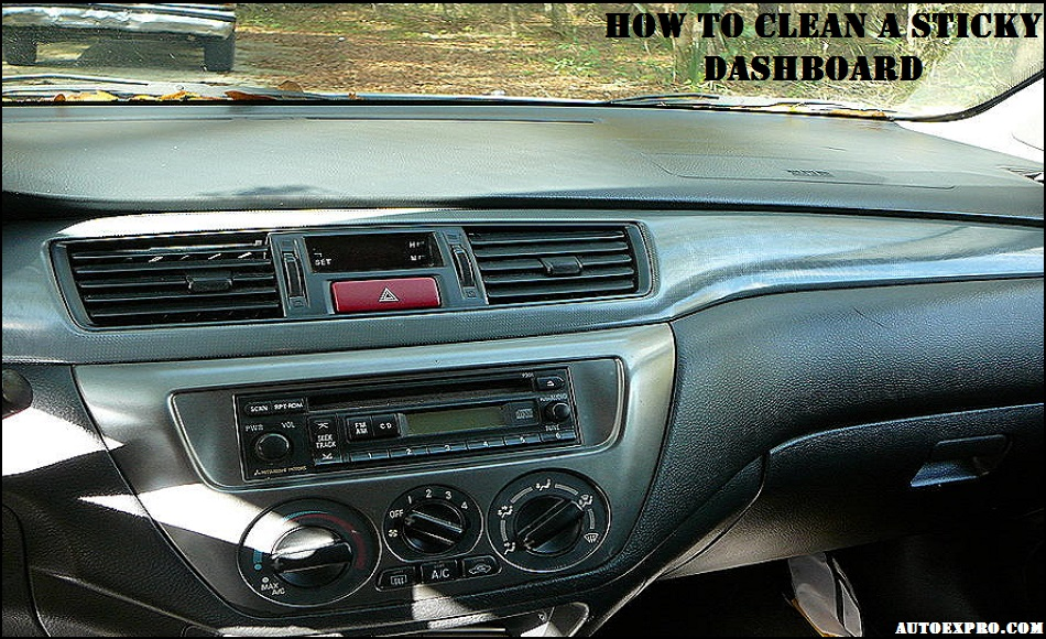 How to Clean a Sticky Dashboard
