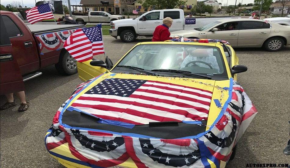 Decorate Car with Flag