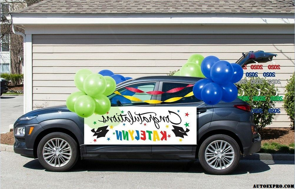 Car Decoration with a designed banner